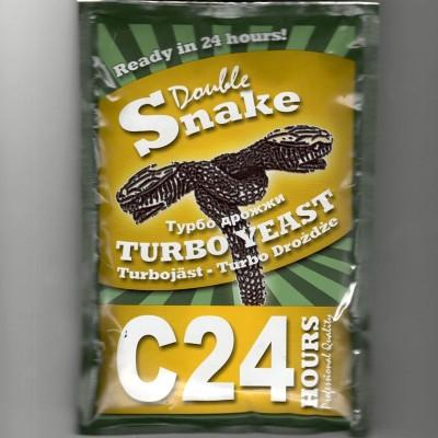 Купить спиртовые турбо дрожжи DoubleSnake C24