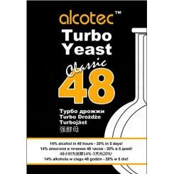 ALCOTEC 48 TURBO,  спиртовые дрожжи, 130 г. Англия.