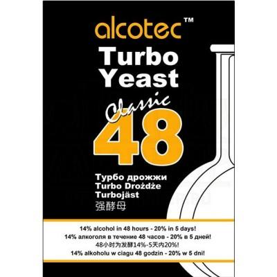 Купить  ALCOTEC 48 TURBO,  спиртовые дрожжи, 130 г. Англия.