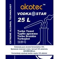 ALCOTEC VODKASTAR TURBO, спиртовые дрожжи, 66 г, Англия.