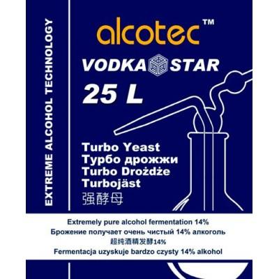 Купить ALCOTEC VODKASTAR TURBO, спиртовые дрожжи, 66 г, Англия.