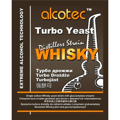 Купить ALCOTEC WHISKY TURBO, спиртовые дрожжи, 93 г, Англия.