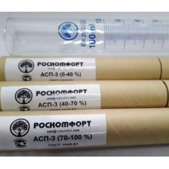 Набор ареометров (Роскомфорт) АСП-3, 0-40, 40-70, 70-100 + мерный цилиндр 100 мл