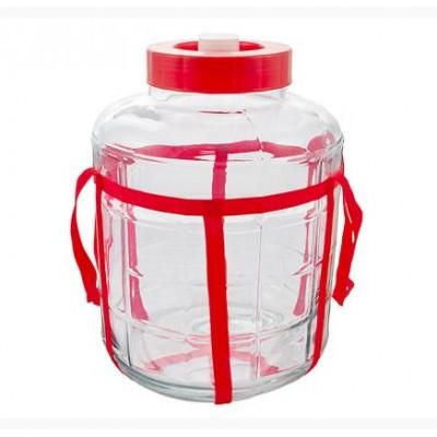 Купить Банка стеклянная с гидрозатвором 18 литров.