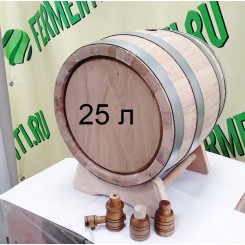 Дубовая бочка, объем 25 литров