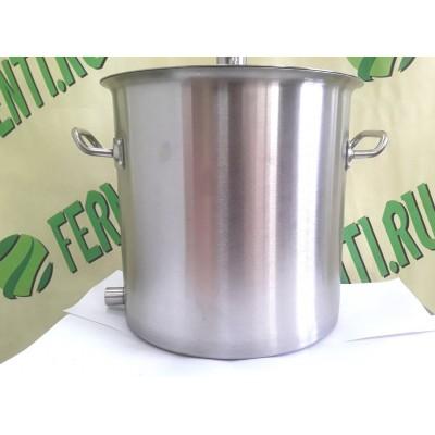 Котел  12 -50 литров, без зиговки, нерж.сталь, без крышки, без выхода под тэн.