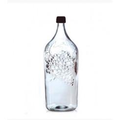 Бутылка стеклянная Виноград 2000мл