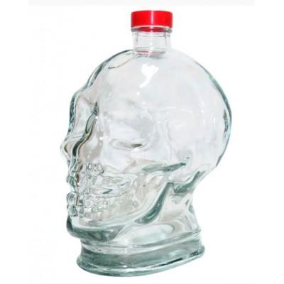 Купить Бутылка стеклянная Череп, 1000 мл