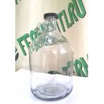 Бутыль стеклянная, 5 литров