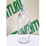 Бутылка с бугельной пробкой, бесцветная 1 л