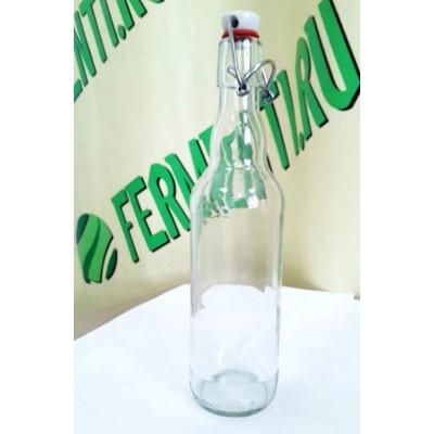Купить Бутылка с бугельной пробкой, 0,5 л бесцветная.