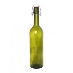 Бутылка с бугельной пробкой, 0,75 л, зеленое стекло