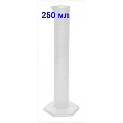 Купить Цилиндр мерный 250 мл, полипропилен, со шкалой