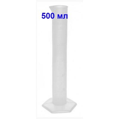 Купить Цилиндр мерный 500 мл, полипропилен, со шкалой