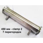 """Холодильник, дефлегматор , 450 мм, CLAMP 2"""" перегородки, AISI 304"""