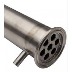 Дефлегматор 20 см, кламп 2''- штуцеры под шланг 10 мм