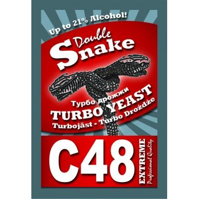 Купить DoubleSnake C48 Turbo cпиртовые дрожжи, ОРИГИНАЛЬНЫЕ! Англия.