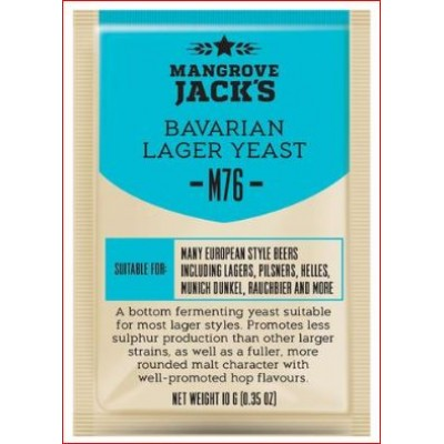"Купить Mangrove Jack's ""Bavarian Lager M76"", 10 г пивные дрожжи."