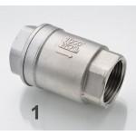 Обратный клапан пружинный, 1 сталь 304