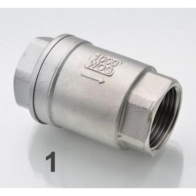 Купить Обратный клапан пружинный, 1 сталь 304