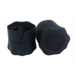 Пробка, колпачок полимерный для бутылок с венчиком В-28, черный