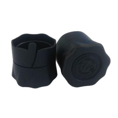 Купить Пробка, колпачок полимерный для бутылок с венчиком В-28, черный