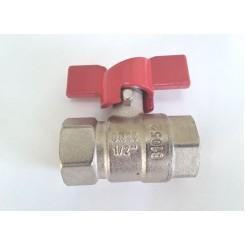 Кран шаровый 1/2 латунь, никель, внутр-внутр.