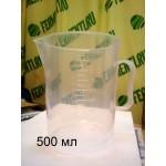 Мерная кружка 0,5 литр, полипропилен.