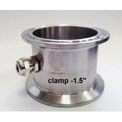 Вставка Clamp 1,5 с нипелем под термометр.