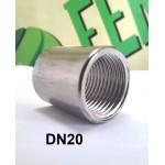 Муфта приварная DN-20 (3/4), внутренняя резьба, нерж AISI 304