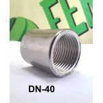 Муфта приварная DN-40 (1-1/2), внутренняя резьба, нерж AISI 304