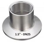 """Переходник кламп 1.5"""" на внутреннюю резьбу DN25 (1)"""