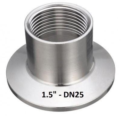 """Купить Переходник кламп 1.5"""" на внутреннюю резьбу DN25 (1)"""