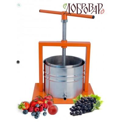 Купить Пресс винный фруктово-ягодный настольный 5 л (трапецевидная резьба)