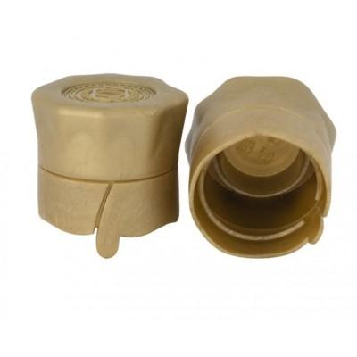 Купить Пробка, колпачок полимерный для бутылок с венчиком В-28, золото