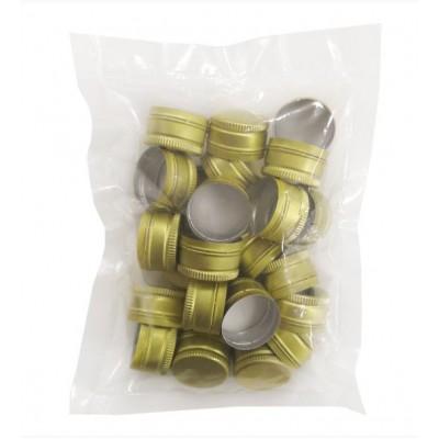 Купить Пробка винтовая алюминиевая без резьбы 28 мм ЗОЛОТО, 25 шт