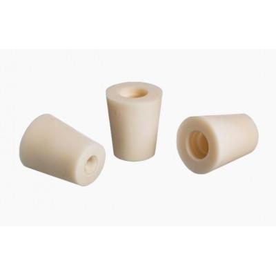 Купить Пробка резиновая коническая с отверстием под гидрозатвор (Ø43,5x35, h40)