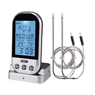 Купить Термометр с двумя термощупами, беспроводной модуль.
