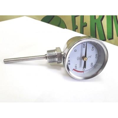 Купить Термометр биметалический радиальный, 0-120С