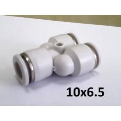 Тройник Y-образный для пневмошланга 10*6,5 мм