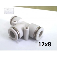 Тройник T-образный для пневмошланга 12*8 мм